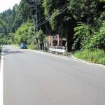 以前の新井不動尊前の道路